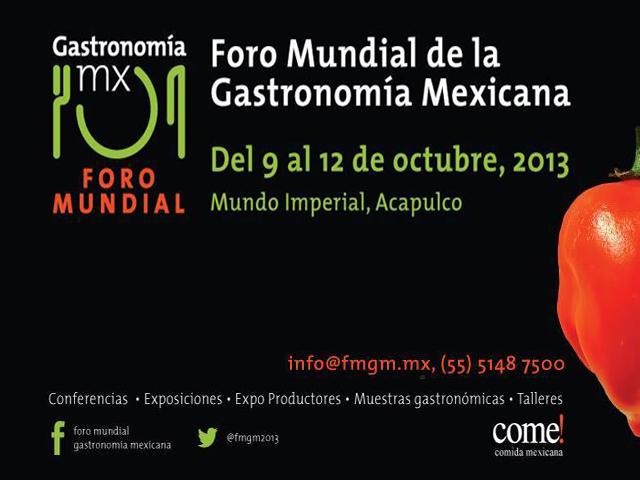 Acapulco sede del Foro Mundial de Gastronomía Mexicana 2013