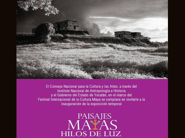 Paisajes Mayas, hilos de luz, en el Palacio Cantón