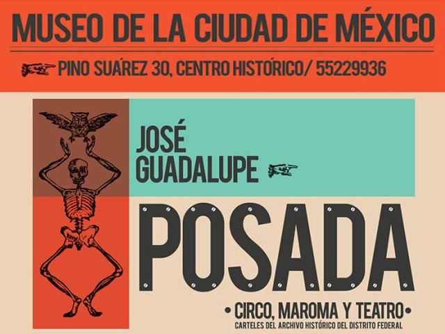 Carteles de José Guadalupe Posada se exhiben en el MCM