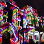 Luces y colores en Fachada de Bellas Artes durante el Filux 2013