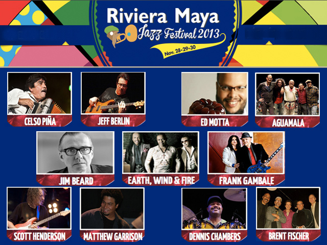 11º Riviera Maya Jazz Festival 2013 en Playa del Carmen