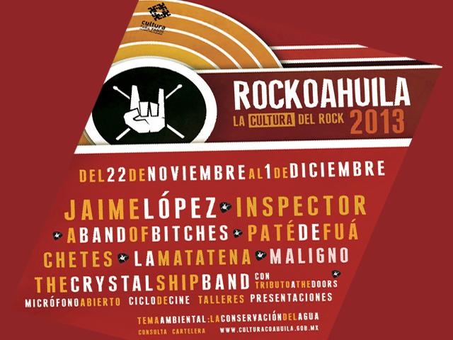 Viernes inicia el Festival Rockoahuila 'La cultura del Rock' 2013