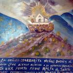 Exvoto con tempo Santo Madero Cerro del Sombreretillo en Parras