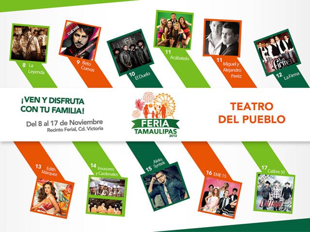 Mañana inicia la Feria Tamaulipas 2013 en Ciudad Victoria