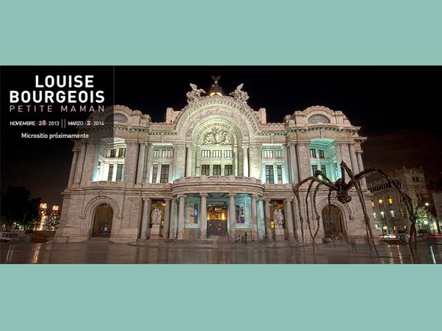 Araña monumental recibe a los visitantes del Museo de Bellas Artes