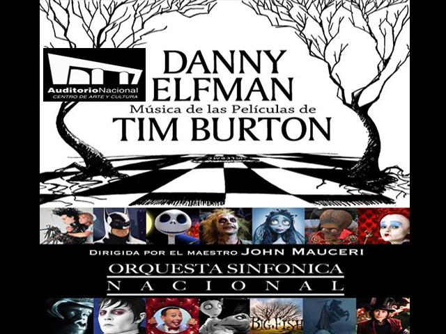 Auditorio Nacional presenta la música de las películas de Tim Burton