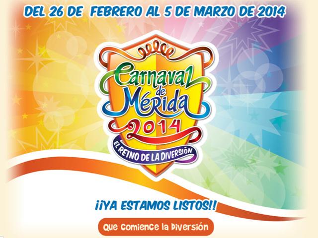 Programa de eventos del Carnaval de Mérida 2014