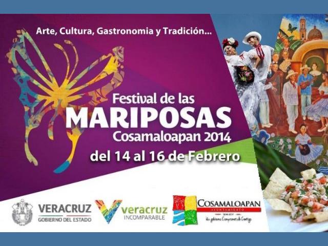 Ier Festival de las Mariposas 2014 en Cosamaloapan