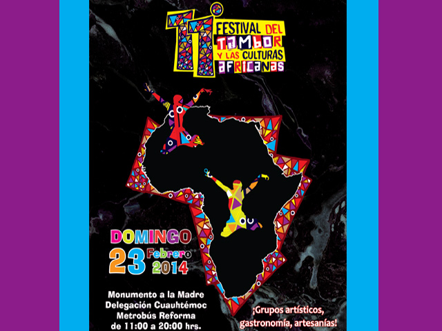 Festival del Tambor y Las Culturas Africanas 2014, 23 de febrero en México D.F.