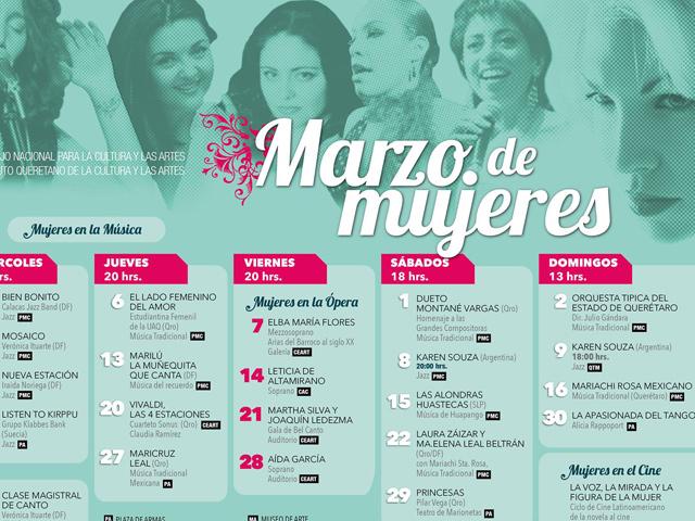 Querétaro celebrará a la mujer con el evento Marzo de Mujeres