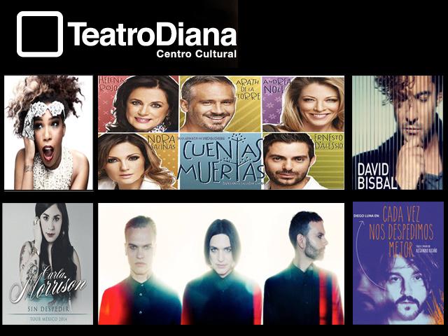Placebo, Macy Gray, Diego Luna, David Bisbal y muchos más en el Teatro Diana