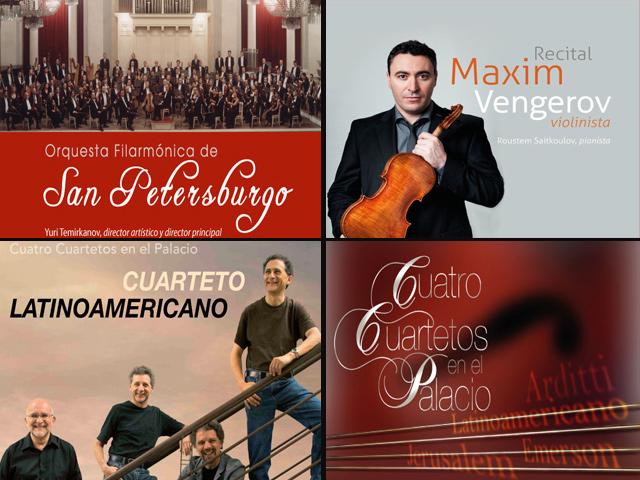 Bellas Artes recibe a cuartetos internacionales y conjunto sinfónico más antiguo de Rusia