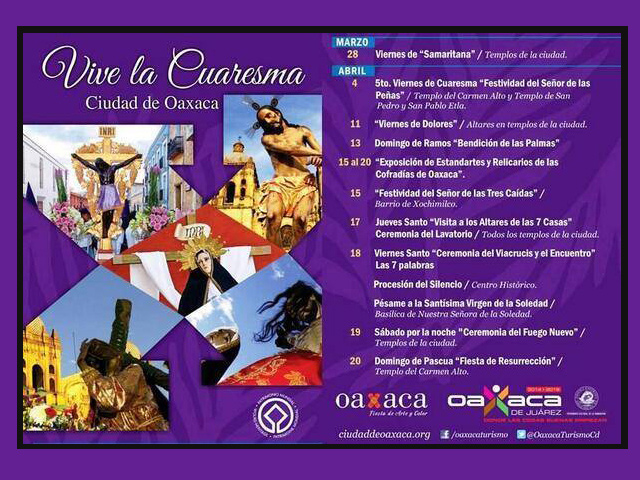 Celebra la Semana Santa 2014 en la ciudad de Oaxaca