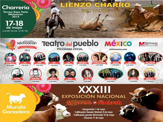 Conciertos y eventos de la Expo Feria Michoacán 2014