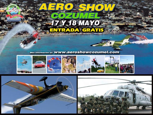 La FAM et les Skyhawks de Canadá participarán en el Aero Show Cozumel 2014