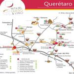 Mapa de la Ruta del Queso y Vino en Querétaro, México