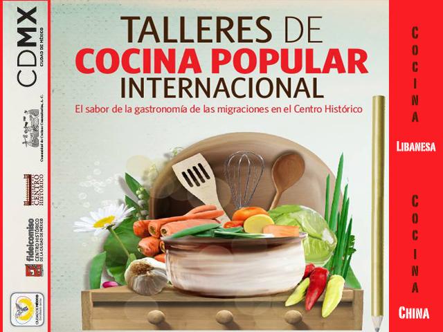 Talleres gratuitos de Cocina Internacional Popular en el Centro Histórico de México