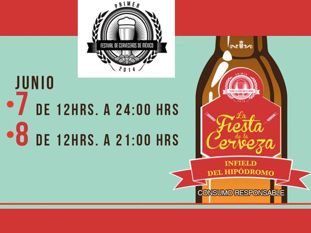 Primer Festival de Cerveceros de México, 7 y 8 de junio 2014