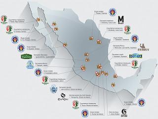 Ubicaciones de las Plantas Cervezeras en México