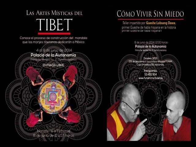 Monjes Tibetanos elaborarán un mandala de arena dedicado a México