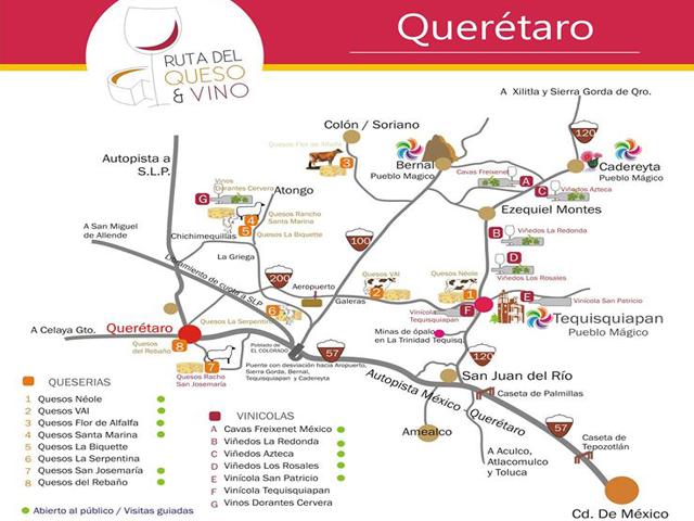 Visita las Queserías y vinícolas de la Ruta del Queso y Vino en Querétaro