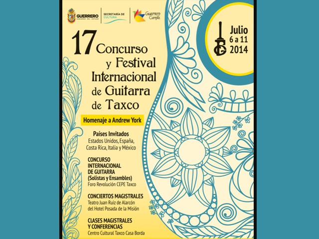 Andrew York participará en el 17 Concurso y Festival Internacional de Guitarra en Taxco
