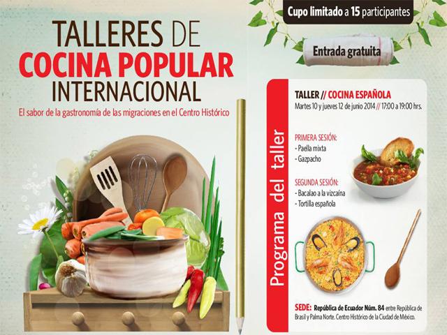 Talleres gratuitos de Cocina Española Popular en el Centro Histórico de México