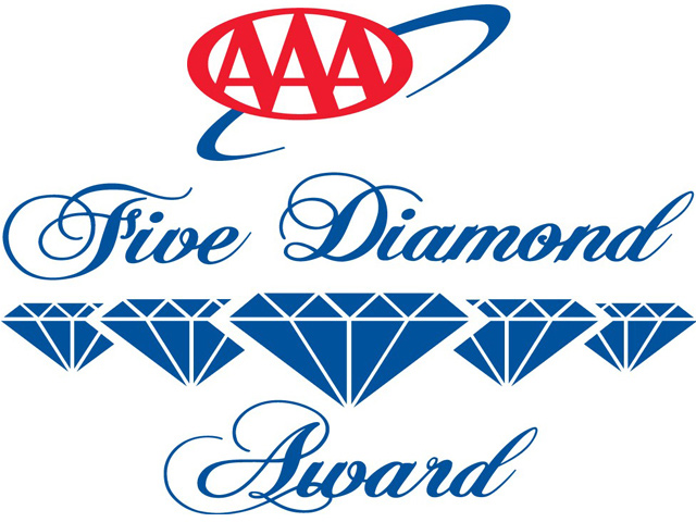 ¿Qué es el distintivo AAA Diamond Award para hoteles y restaurantes?