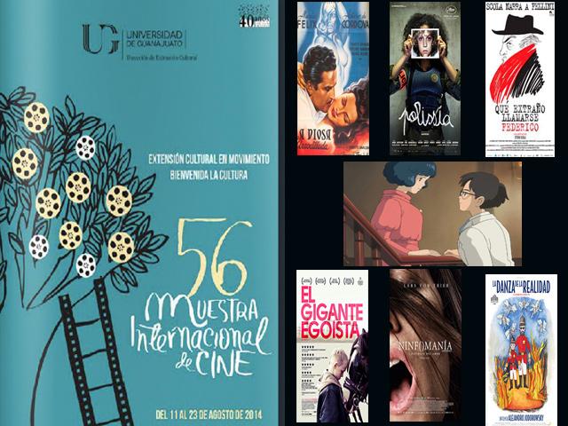 56 Muestra Internacional de Cine, del 11 al 23 de agosto 2014 en la U.G.