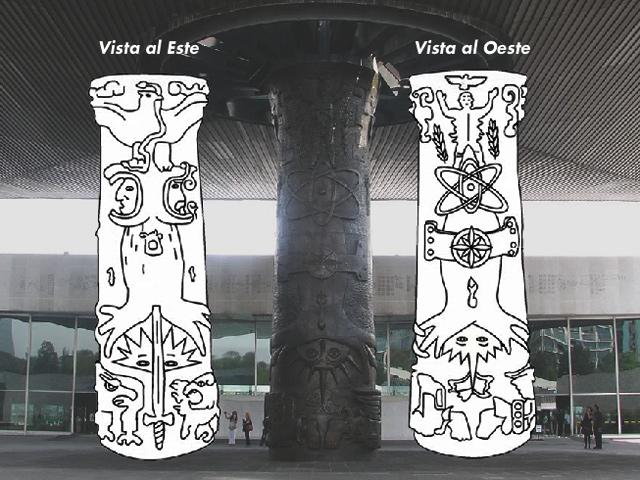 Escultura monumental 'el paraguas': símbolo del Museo Nacional de Antropología