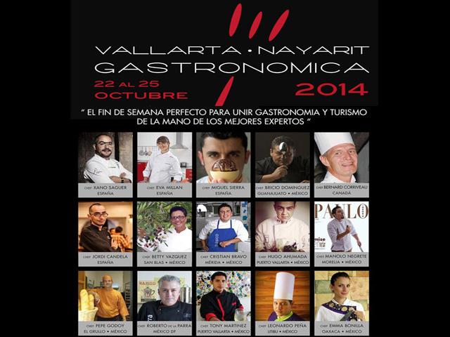 """Los mejores expertos te esperan en el """"Vallarta-Nayarit Gastronómica 2014"""""""
