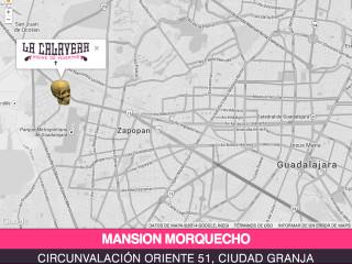 Mapa de ubicación del evento La Calavera 2014 en Zapopan