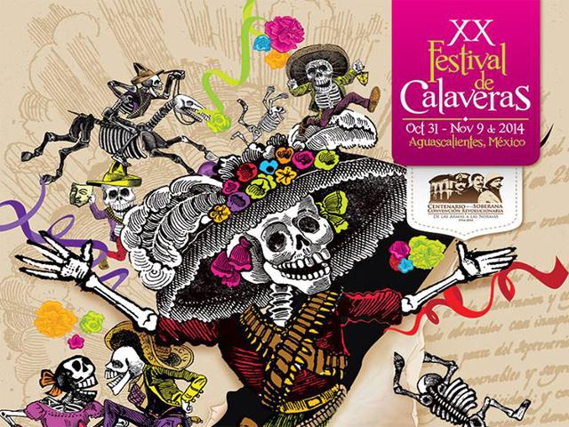Eventos del XX Festival de Calaveras de Aguascalientes 2014