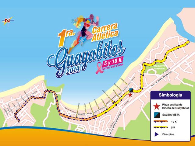 1ª Carrera Atlética 5 y 10 K. Guayabitos 2014