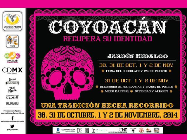 Eventos y recorridos del Día de Muertos 2014 en Coyoacán