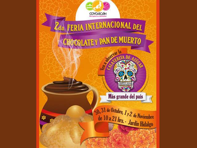 Coyoacán celebra su 2da. Feria Internacional del Chocolate y Pan de Muerto