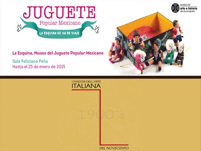 Juguetes populares mexicanos y maestros italianos del siglo XX se exhiben en el MAHG