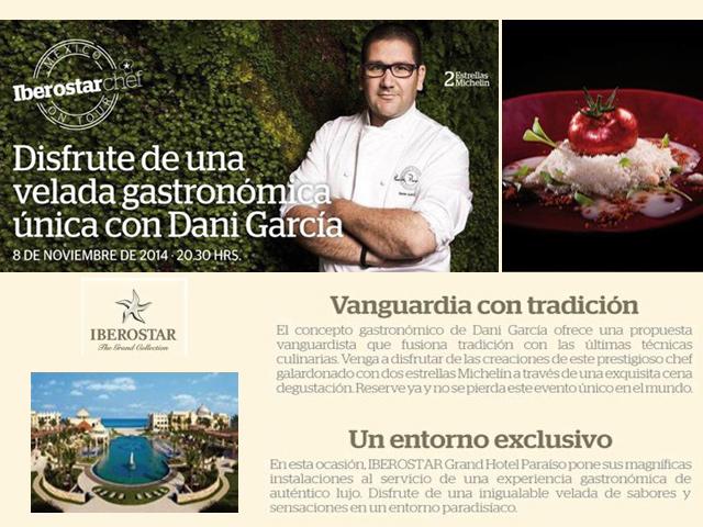 Velada gastronómica en el Iberostar con el mejor chef vanguardista de Andalucía
