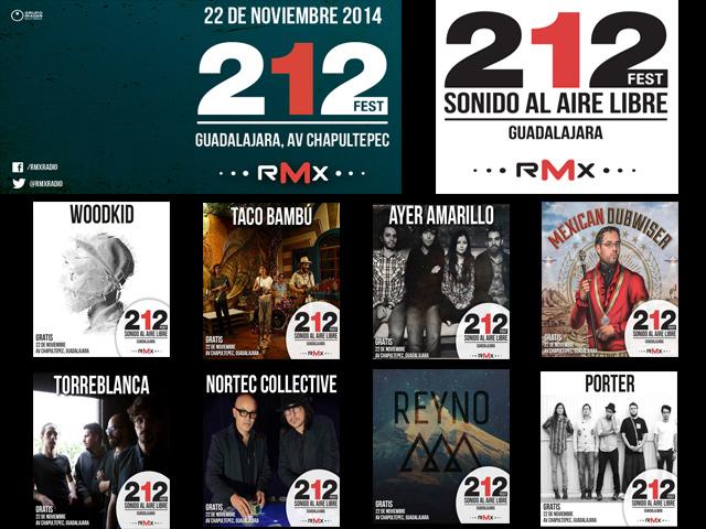 El Festival 212 RMX en Guadalajara superará todas las expectativas