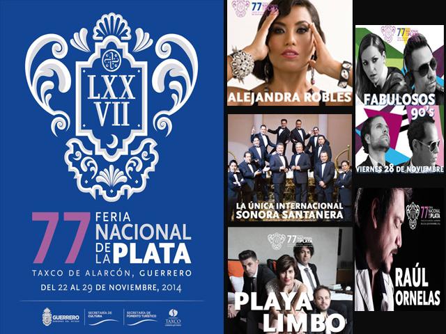 Programa de Eventos - Feria Nacional de la Plata 2014 en Taxco