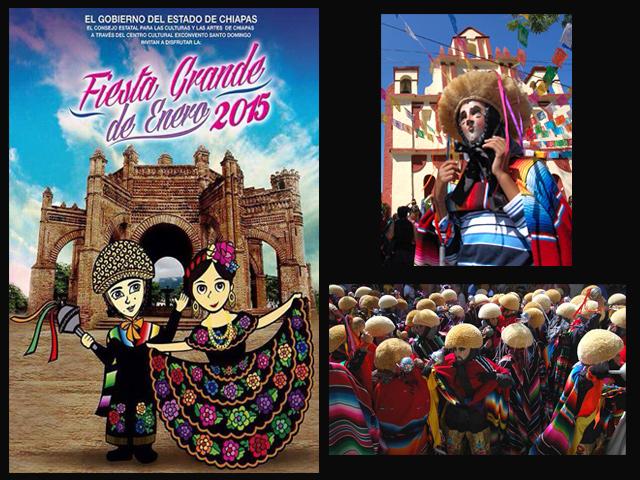 Eventos de la Fiesta Grande de Enero 2015 en Chiapa de Corzo