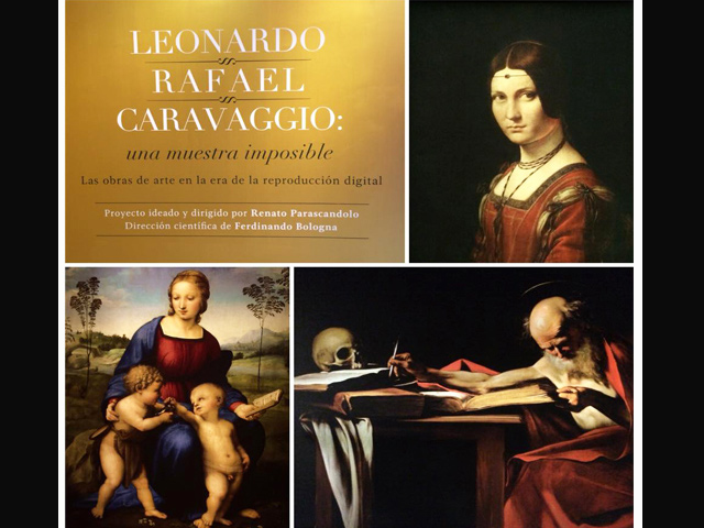Fieles reproducciones de obras de Da Vinci, Rafael y Caravaggio llegan al CENART