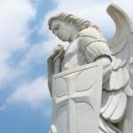 Uno de los cuatro ángeles que resguardan la Capilla El Cerrito