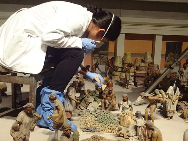 La maqueta del Mercado de Tlatelolco en el Museo Nacional de Antropología