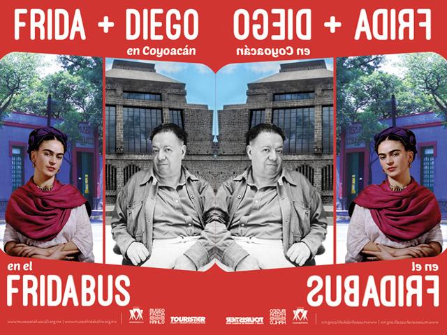 El 'Fridabus' transporte que une los museos Frida Kahlo y Diego Rivera Anahuacalli