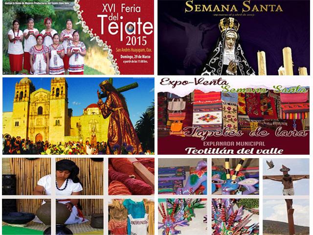 Celebraciones religiosas y eventos alternos de Semana Santa 2015 en Oaxaca