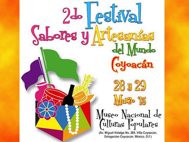 15 países participarán en el 2º Festival de Sabores y Artesanías del Mundo 2015 en Coyoacán
