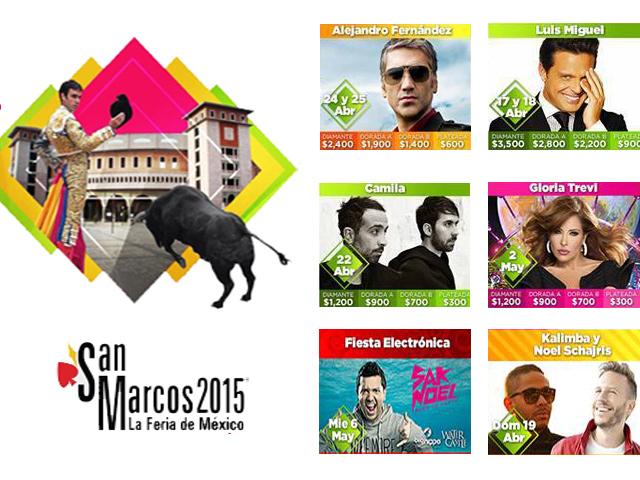 Carteleras del Serial Taurino y Conciertos de la Feria San Marcos 2015