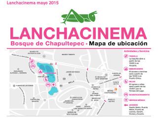 Lanchacinema 2015, mapa Lago de Chapultepec y accesos
