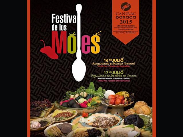 La CANIRAC Oaxaca presenta el Festival de los Moles de Oaxaca 2015